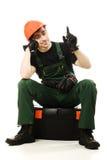 Service man wearing in helmet Stock Images