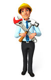 Service Man with wrench and hammer Stock Photos