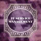 IT Service Management Concept. Vintage design. Royalty Free Stock Images