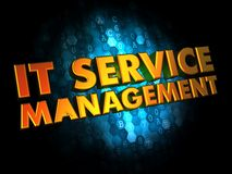 IT Service Management on Digital Background. Royalty Free Stock Images
