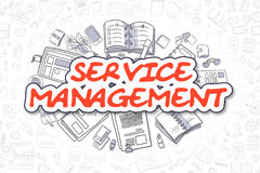 Service Management - Doodle Red Word. Business Concept. Royalty Free Stock Images