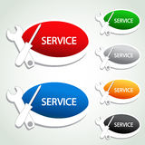 Service menu item - oval sticker Stock Images