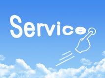 Service message cloud shape royalty free illustration