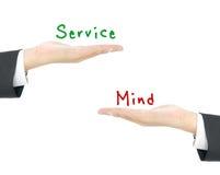 Service mind concept Stock Image