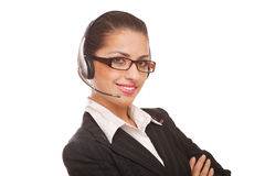 Service mit einem Lächeln Lizenzfreies Stockfoto