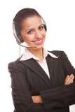 Service mit einem Lächeln Stockbild