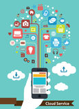 Service mobile de nuage Photos stock