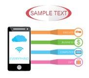 Service mobile sur le nuage Images stock