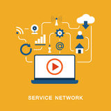 Service network vector Stock Images