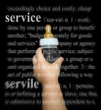 Service Now. A baby holding up an empty bottle waiting for service royalty free stock images