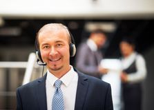 service operator talking on headset Stock Photography
