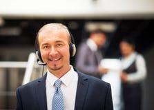 service operator talking on headset Stock Photography