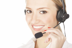 Service operator woman Stock Photo