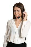 Service operator woman with headset Stock Photography