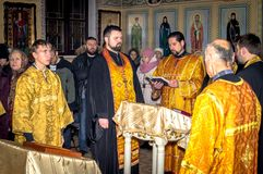 Service in the Orthodox Church Stock Image