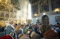Service in the Orthodox Church Stock Images
