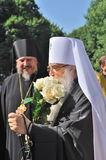 Service in the Orthodox Church Stock Photo