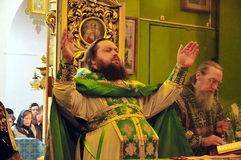 Service in the Orthodox Church Royalty Free Stock Photos