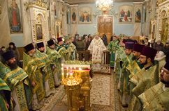 Service in the Orthodox Church Royalty Free Stock Images
