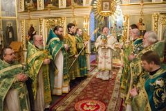 Service in the Orthodox Church Stock Photography