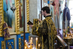 Service in the Orthodox Church Royalty Free Stock Photo