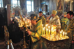Service in the Orthodox Church Stock Photos