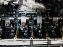 Service ouvert de voiture de pistons de moteur de voiture photo libre de droits
