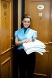 Service på ditt dörrmoment Fotografering för Bildbyråer