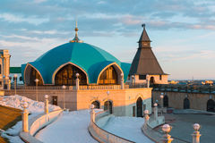Service pavilion on territory of Kazan Kremlin in Tatarstan, Russia Royalty Free Stock Photo