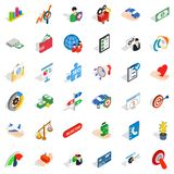 Service payment icons set, isometric style. Service payment icons set. Isometric set of 36 service payment vector icons for web isolated on white background Royalty Free Stock Photos