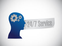24-7 service people sign concept. Illustration design icon graphic Royalty Free Stock Photo