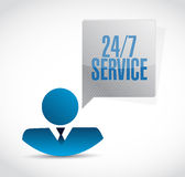 24-7 service people sign concept. Illustration design icon graphic Royalty Free Stock Images