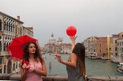 Service photographique des modèles à Venise images libres de droits