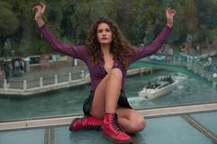 Service photographique des modèles à Venise image libre de droits