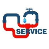 Service plumbing and sanitary ware Stock Image