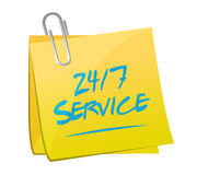 24-7 service post message sign concept. Illustration design icon graphic Stock Photography