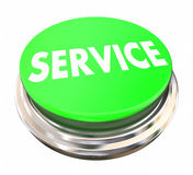Service Preferred Green Button Stock Image