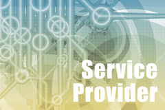 Service Provider Abstract. Background in Blue Color stock illustration