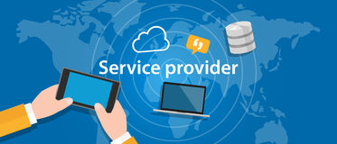 Service provider for internet network business connect. Vector Royalty Free Stock Photo
