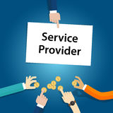Service provider user customer pay fees for the company. Vector Royalty Free Stock Photography