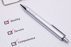 Service Quality Competence Royalty Free Stock Photography