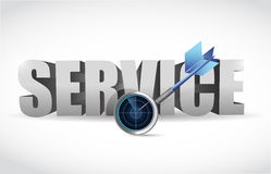 Service and radar target illustration design Royalty Free Stock Photo