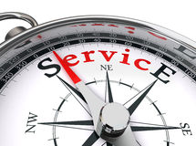 Service red word on compass Royalty Free Stock Photo