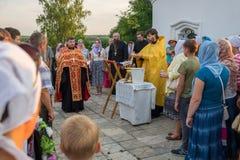 Service religieux à l'église de St John l'Evang Photographie stock
