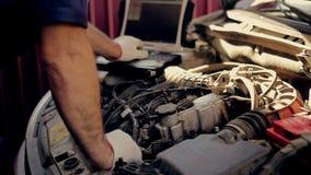 Service and repair, computer diagnostics: a stock video