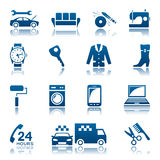 Service and repair icon set Stock Photo