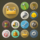 Service and repair, icons set Stock Photos