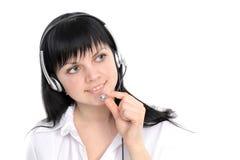 Service representative in headset Stock Image