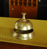 Service ring bell on a hotel desk Royalty Free Stock Image