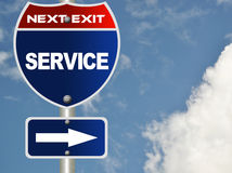 Service road sign Stock Images